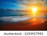 sunset and sea | Shutterstock . vector #1253927992