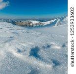 winter calm mountain landscape...   Shutterstock . vector #1253933602