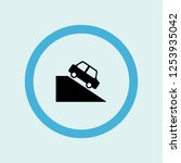 car on the hill icon symbol.... | Shutterstock .eps vector #1253935042