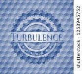 turbulence blue emblem or badge ... | Shutterstock .eps vector #1253945752