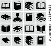 book icons | Shutterstock .eps vector #125394698