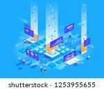 data visualization concept.... | Shutterstock .eps vector #1253955655