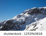 a gigantic snow rock mountain | Shutterstock . vector #1253963818