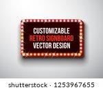 vector retro signboard or...   Shutterstock .eps vector #1253967655
