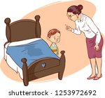 hand drawn picture of young boy ... | Shutterstock .eps vector #1253972692