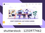 teamwork in openspace office... | Shutterstock .eps vector #1253977462