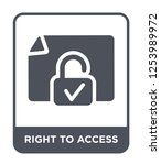 right to access icon vector on... | Shutterstock .eps vector #1253989972