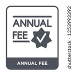 annual fee icon vector on white ... | Shutterstock .eps vector #1253993392