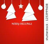 vector white paper christmas... | Shutterstock .eps vector #1253999608