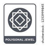 polygonal jewel icon vector on... | Shutterstock .eps vector #1253999845