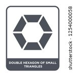 double hexagon of small... | Shutterstock .eps vector #1254000058