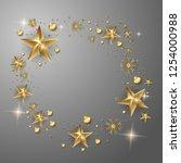 vector gold stars christmas... | Shutterstock .eps vector #1254000988