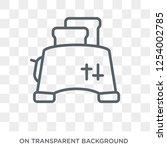 toaster icon. toaster design... | Shutterstock .eps vector #1254002785