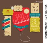save the date   yes i do | Shutterstock .eps vector #125400755