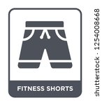 fitness shorts icon vector on... | Shutterstock .eps vector #1254008668