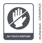 no touch gesture icon vector on ... | Shutterstock .eps vector #1254009415