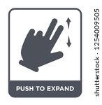 push to expand icon vector on... | Shutterstock .eps vector #1254009505