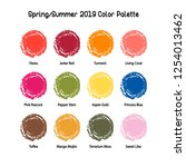 spring summer 2019 color... | Shutterstock .eps vector #1254013462