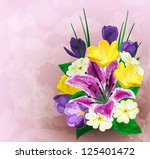 painted flower background ... | Shutterstock .eps vector #125401472
