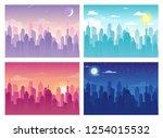 vector illustration of city... | Shutterstock .eps vector #1254015532