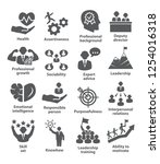 business management icons. pack ... | Shutterstock . vector #1254016318