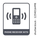 phone receiver with icon vector ... | Shutterstock .eps vector #1254016498