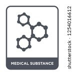 medical substance icon vector... | Shutterstock .eps vector #1254016612