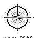 compass rose with german east... | Shutterstock .eps vector #1254019435