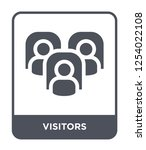 visitors icon vector on white background, visitors trendy filled icons from Hockey collection, visitors simple element illustration