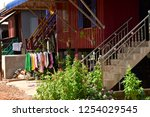 koh chen  kingdom of cambodia   ... | Shutterstock . vector #1254029545