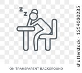 tired woman icon. trendy flat... | Shutterstock .eps vector #1254030235