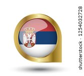 flag of serbia  location map... | Shutterstock .eps vector #1254032728