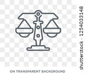 justice icon. trendy flat... | Shutterstock .eps vector #1254033148