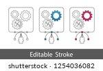 gears under construction symbol ... | Shutterstock .eps vector #1254036082