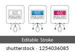 4k full hd symbol   outline... | Shutterstock .eps vector #1254036085