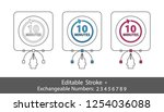10 minutes symbol   outline... | Shutterstock .eps vector #1254036088