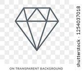 gemstone icon. trendy flat... | Shutterstock .eps vector #1254037018