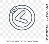 left chevron icon. trendy flat... | Shutterstock .eps vector #1254037225