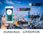 navigation information... | Shutterstock . vector #1254039238