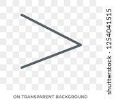 right chevron icon. trendy flat ... | Shutterstock .eps vector #1254041515