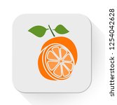 vector orange icon. flat... | Shutterstock .eps vector #1254042628