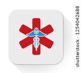 vector medical care. flat... | Shutterstock .eps vector #1254042688