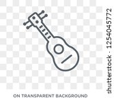 acoustic guitar icon. acoustic... | Shutterstock .eps vector #1254045772