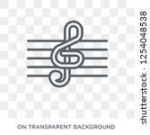 treble clef icon. treble clef... | Shutterstock .eps vector #1254048538