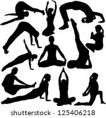yoga collection   vector | Shutterstock .eps vector #125406218