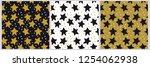 3 vector seamless star... | Shutterstock .eps vector #1254062938