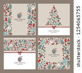 collection of christmas and new ... | Shutterstock .eps vector #1254065755
