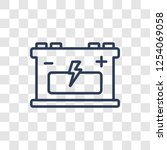 industrial battery icon. trendy ... | Shutterstock .eps vector #1254069058