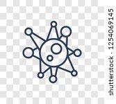 virus icon. trendy linear virus ... | Shutterstock .eps vector #1254069145