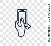 hand and phone icon. trendy... | Shutterstock .eps vector #1254073225